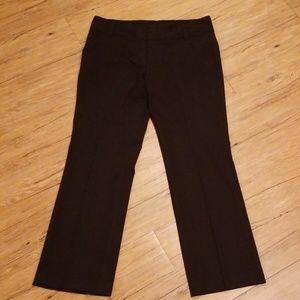Daisy Fuentes: Black Dress Pants w Hidden Buttons